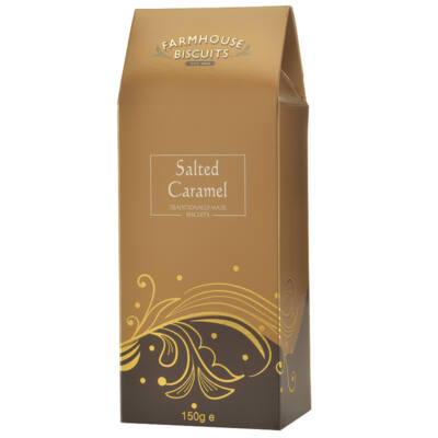 Farmhouse Biscuits Regency Salted Caramel Carton (sós karamellás keksz)– 150g