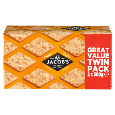 Jacob's Original and Best Cream Crackers 2 x 200g Twin pack