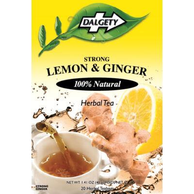 Dalgety Lemon & Ginger (citrom-gyömbér) tea 18 db filter