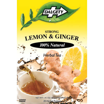 Dalgety Lemon & Ginger (citrom-gyömbér) tea 18 db filter