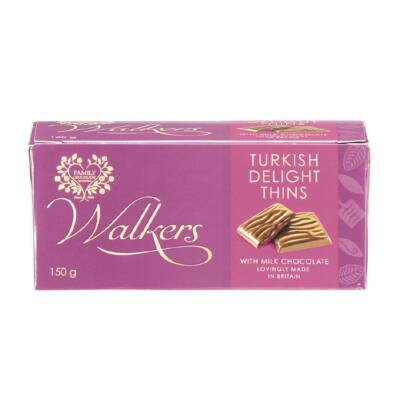 Walkers After Dinner Turkish Delight Thins 150g