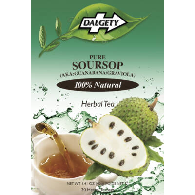 Dalgety Pure Soursop (Guanabana) Herbal Tea - Max Tea Strength 18 db filter