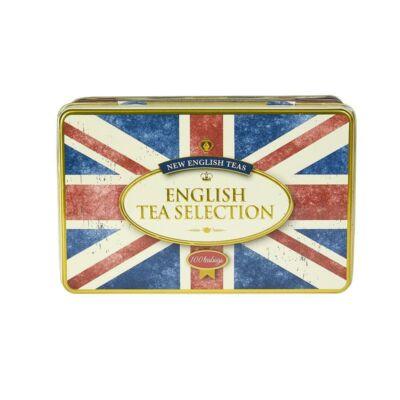 New English Teas - Retro Union Jack Fine English Tea Selection (Fémdobozos teaválogatás 100 db filter teával)