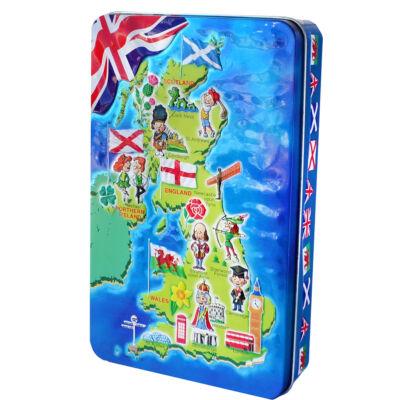 Churchill's United Kingdom Map - Salted Caramel Fudge 300g
