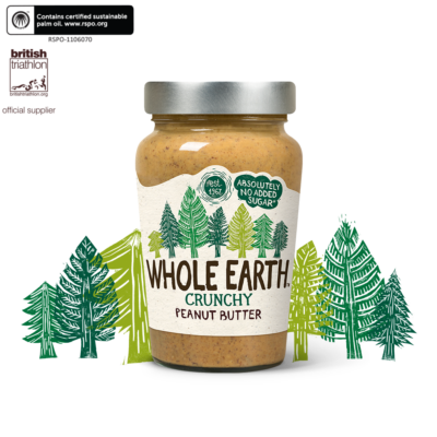 Whole Earth Original Crunchy Peanut Butter 340g (Mogyoróvaj mogyoródarabokkal)