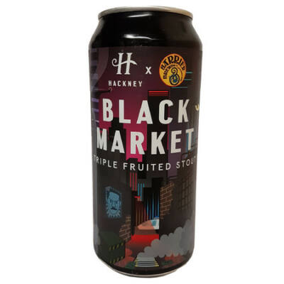 Hackney Brewery Black Market Stout (Barrier Collab 440ml, 6°%)
