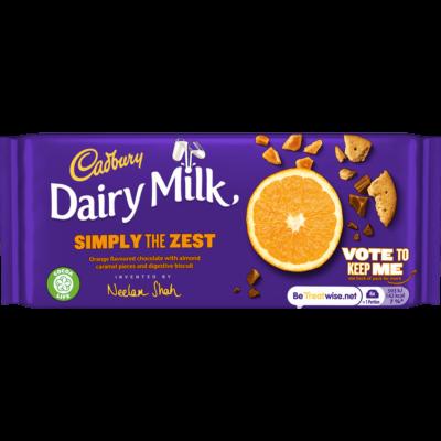 Cadbury Dairy Milk Simply The Zest 110g
