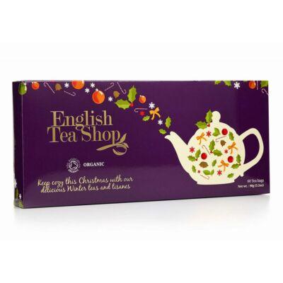 English Tea Shop Lila tálca Karácsonyi Kínáló - teaválogatás 60 filter