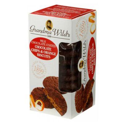 Grandma Wild's Chocolate Coated Chocolate Chip & Orange Biscuits 150g