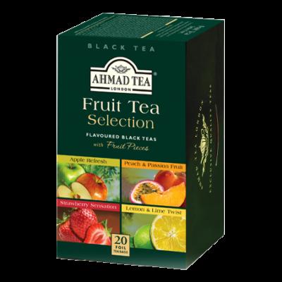 Ahmad Tea - Gyümölcstea válogatás (4 féle ízű fekete tea gyümölcsízesítéssel) 20 db filter