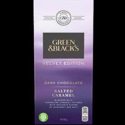 Green & Black's Velvet Salted Caramel Dark Chocolate 90g