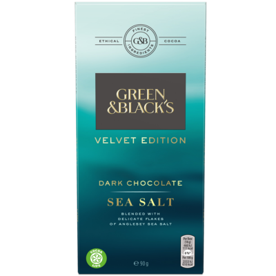 Green & Black's Velvet Sea Salt Dark Chocolate 90g