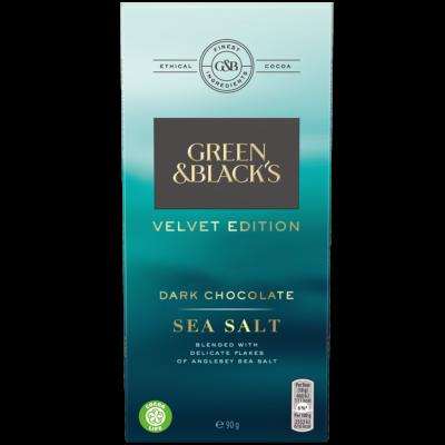 Green & Black's Velvet Sea Salt Dark Chocolate 90g