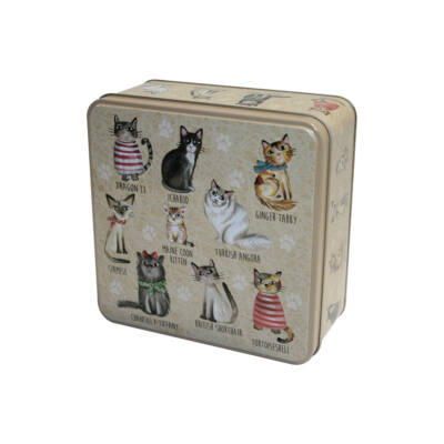 Grandma Wild's Embossed Cats in Jumpers Tin (Pulcsis cicák fémdoboz) 160g