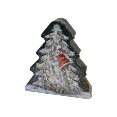 Grandma Wild's Mikulás a fán fenyőfa formájú fémdobozos keksz 300g