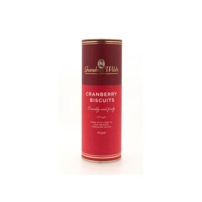 Grandma Wild's Red and Gold Tube (Henger alakú díszdoboz vörösáfonyás keksszel) 150g