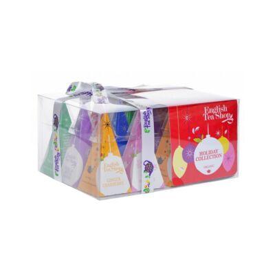 English Tea Shop Holiday Collection - Piros gömbös bio teaválogatás 12 selyemfilter