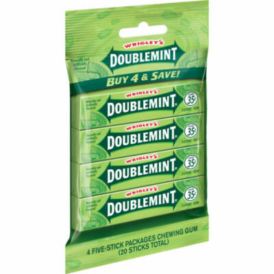 Wrigley's Doublemint Gum - 4x5 multipack - lap rágógumi