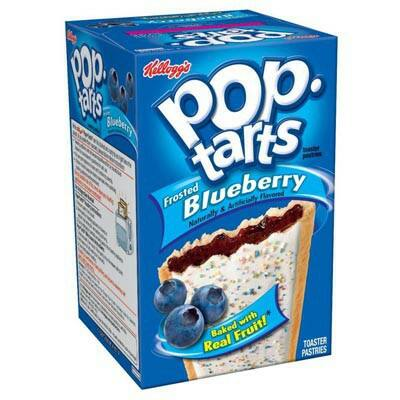 Kellogg's Pop Tarts - Frosted Blueberry 384g