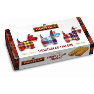 Campbells Tartan Dog Carton (Shortbread Fingers) 150g