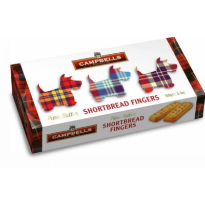 Campbells Tartan Dog Carton (Shortbread Fingers) 150g