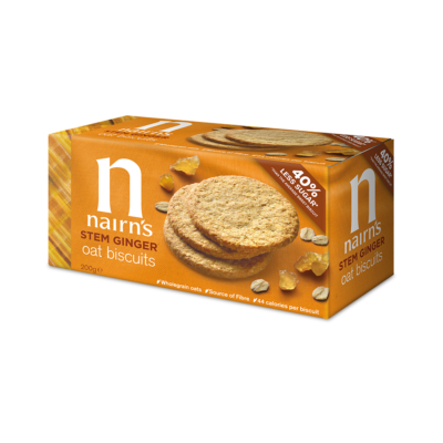 Nairn's Stem Ginger Oat Biscuits (Skót gyömbéres zabkeksz) 200g