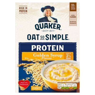 Quaker Oat So Simple Protein Golden Syrup 8x43g instant tasak