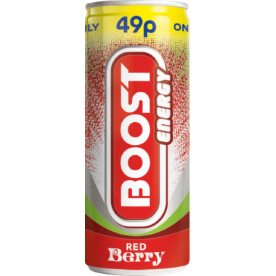 Boost Energy Red Berry 49p 250ml