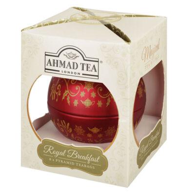 Ahmad Tea - Royal Breakfast Tea  - Gömb fémdobozos tea 8 piramis filter