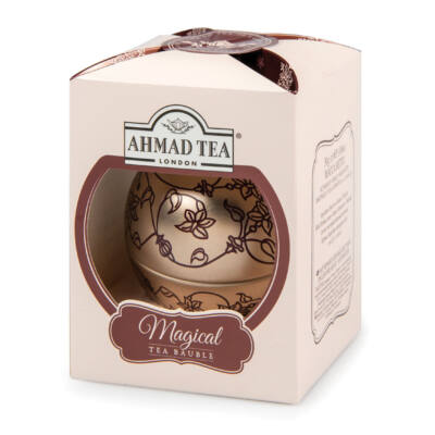 Ahmad Tea - Rose Gold English Breakfast Tea - 30g  - Gömb fémdobozos tea 8 piramis filter