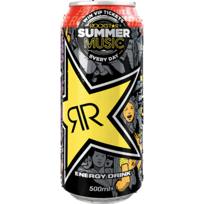 Rockstar Original Energy- Summer Music Ltd Edt. 99p 500ml