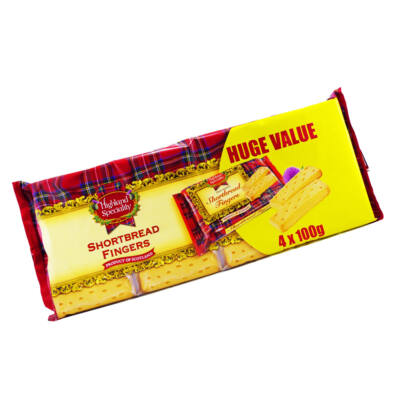 Highland Speciality Shortbread Fingers 4x100g Multipack