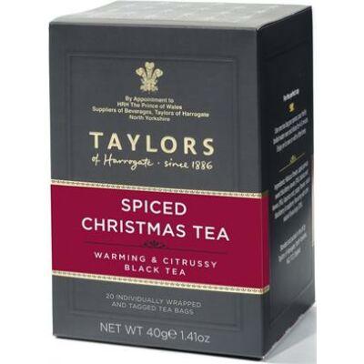 Taylor's of Harrogate Spiced Christmas Tea (Karácsonyi Tea) 20 db borítékolt filter
