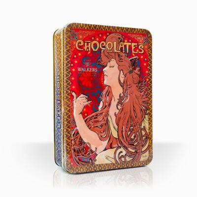 """Walkers Chocolates of London Mucha """"Job"""" Fémdobozos csokoládé desszert 240g"""