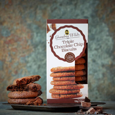 Grandma Wilds Triple Choc Biscuits (Tripla csokoládés keksz) 150g