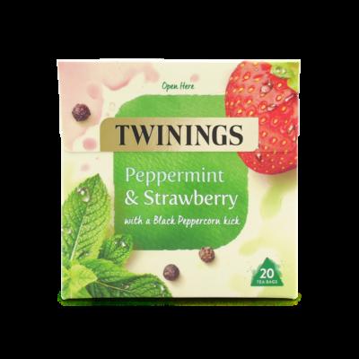 Twinings Peppermint & Strawberry (Borsmenta és eper) Tea 20 db filter