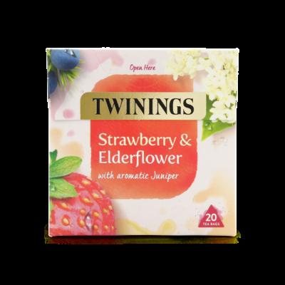 Twinings Strawberry & Elderflower (Eper és bodza) Tea 20 db filter