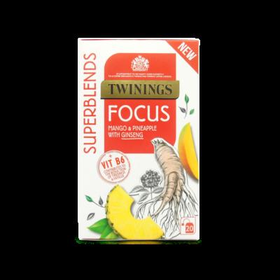 Twinings Superblends Focus Tea (Mangó és ananász tea ginzenggel) 20 db filter