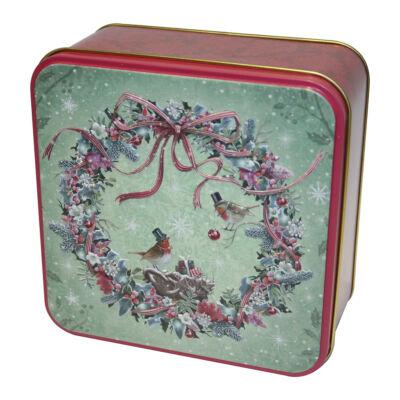 Grandma Wild's Festive Wreath Tin 160g (Karácsonyi koszorú fémdobozos kekszválogatás)