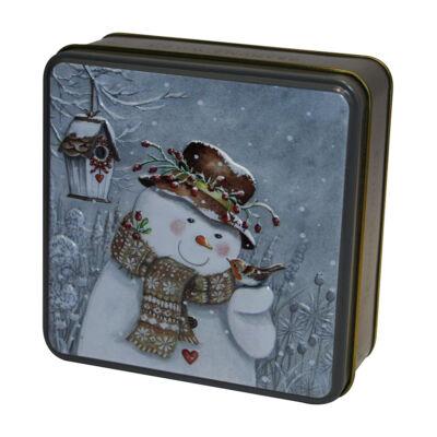 Grandma Wild's Snowman with Robin Tin 100g (Fémdobozos Clotted Cream keksz) 100g