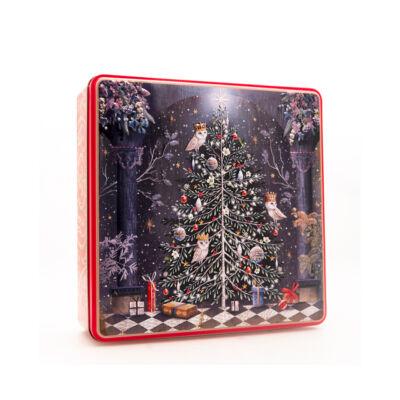 Grandma Wild's Decorated Christmas Tree Tin - Fémdobozos vajas keksz 400g
