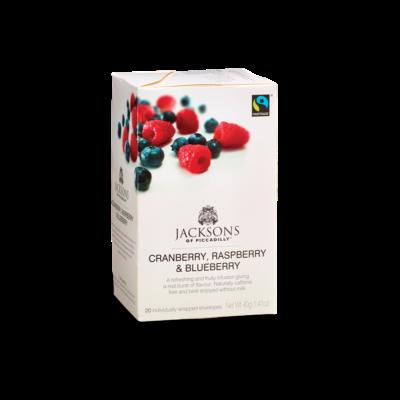 Jacksons of Piccadilly - Cranberry, Raspberry & Blueberry Tea 20 db borítékolt filter