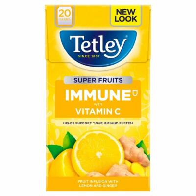 Tetley Super Fruit Tea Immune Lemon & Ginger 20 db filter