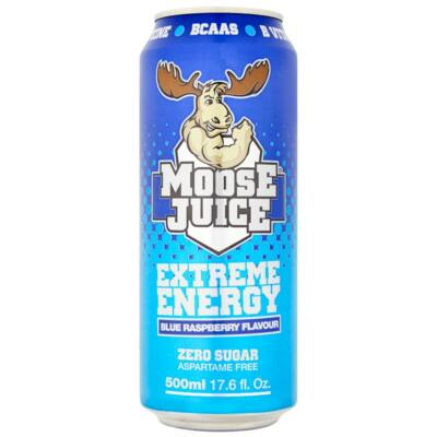 Moose Juice Blue Raspberry - Extreme Energy 500ml