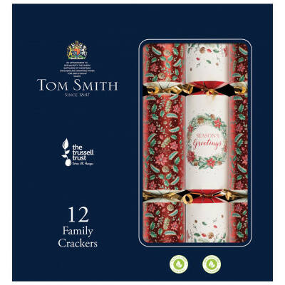 "Tom Smith Traditional Family Christmas Crackers 12 db 12"" méretű cracker"