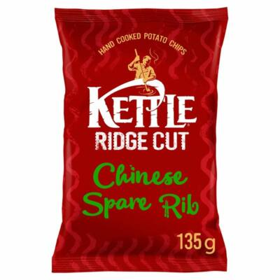 Kettle Ridge Cut Chinese Spare Rib Hand Cooked Crisps 135g