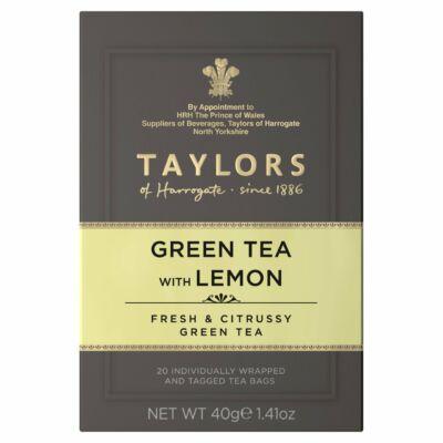 Taylors of Harrogate Green Tea with Lemon (Zöld tea citrommal) 20 db borítékolt filter