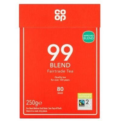 Co-op Fairtrade 99 Tea Blend Bags 80 db filter