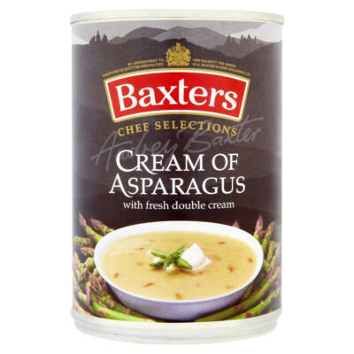 Baxters Chef Selections Cream of Asparagus Soup with Fresh Double Cream 400g