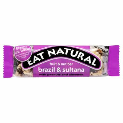Eat Natural Fruit & Nut Bar Brazil & Sultana (Gluténmentes) 50g